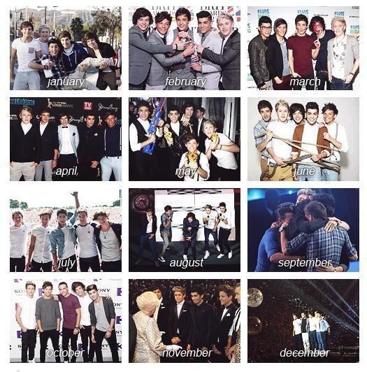 Résumé de l'année 2012 des boys.