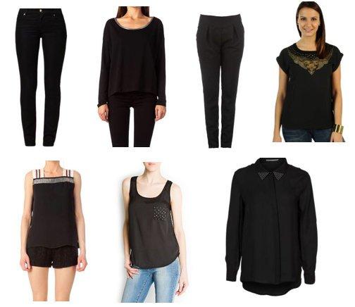 Les vêtements noirs!