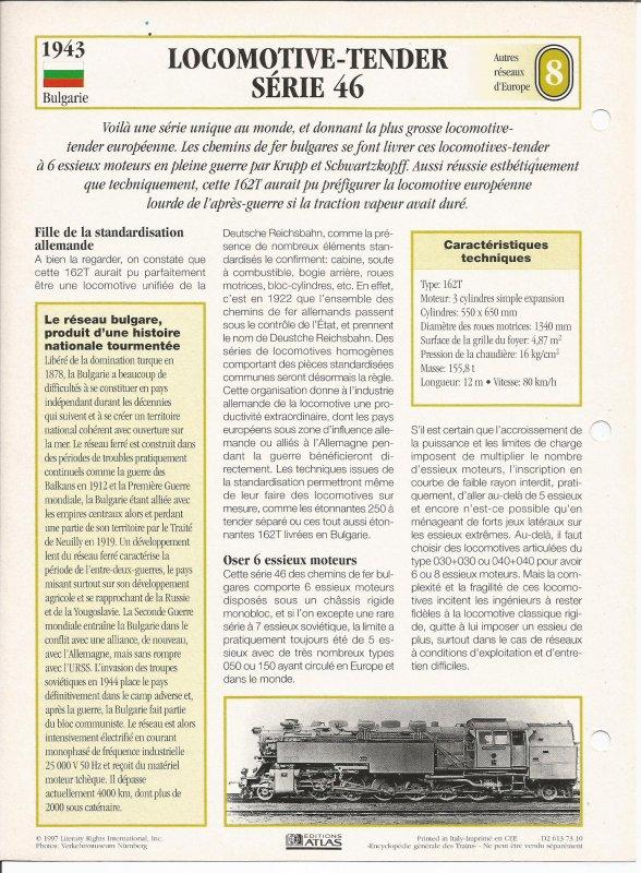 LOCOMOTIVE-TENDER SÉRIE 46