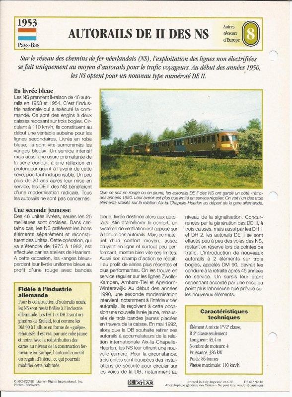 AUTORAILS DE II DES NS