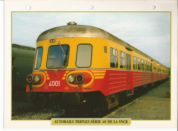 AUTORAILS TRIPLES SÉRIE 40 SNCB