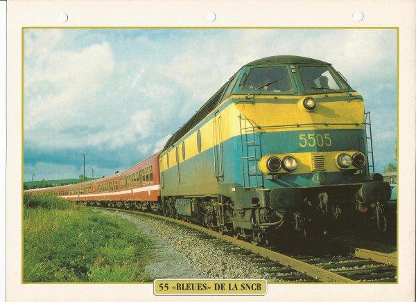 """55 """"BLEUES"""" DE LA SNCB"""