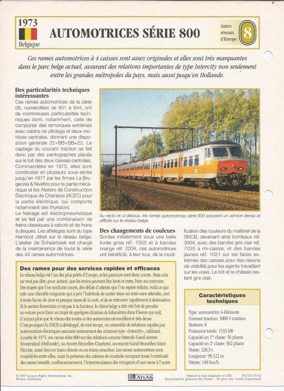 AUTOMOTRICES SÉRIE 800