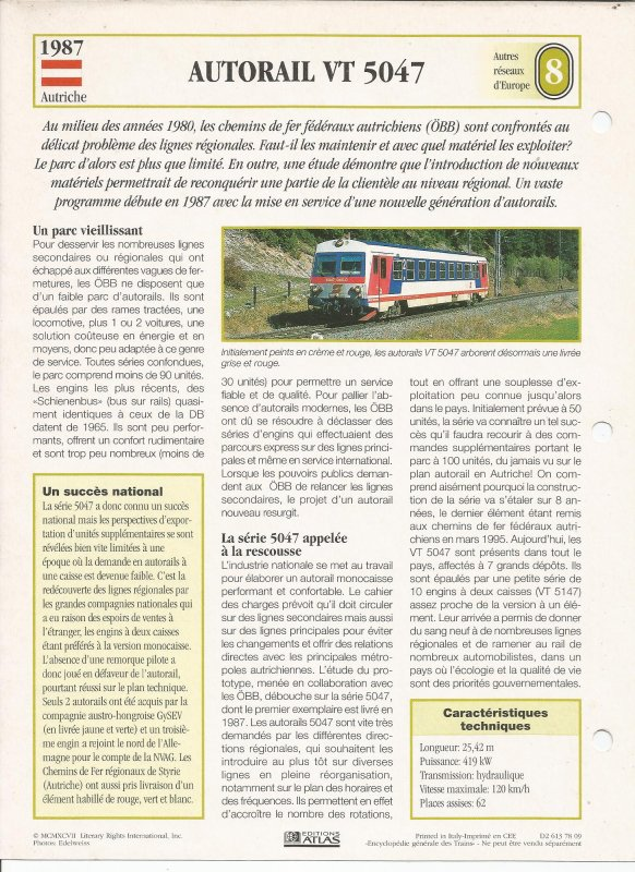 AUTORAIL VT 5047