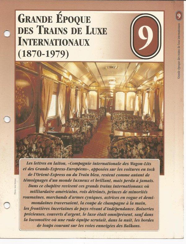 GRANDE EPOQUE DES TRAINS DE LUXE INTERNATIONAUX (1870 - 1979)