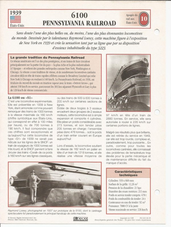 6100 - PENNSYLAVANIA RAILROAD