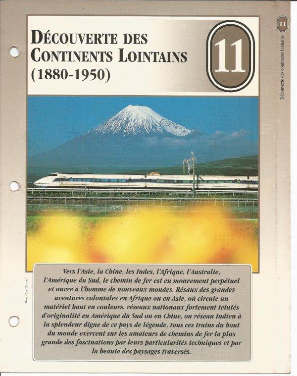 DÉCOUVERTE DES LOINTAINS CONTINENTS LOINTAINS (1880 - 1950)
