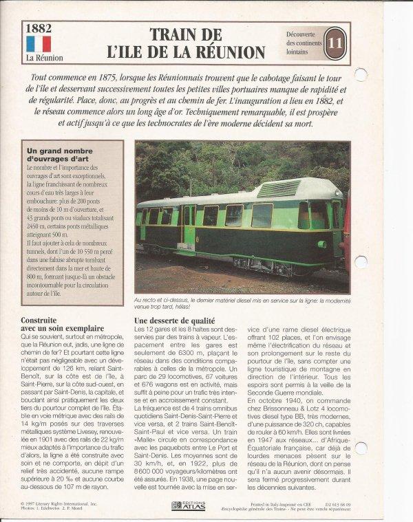 TRAIN DE L'ÎLE DE LA REUNION