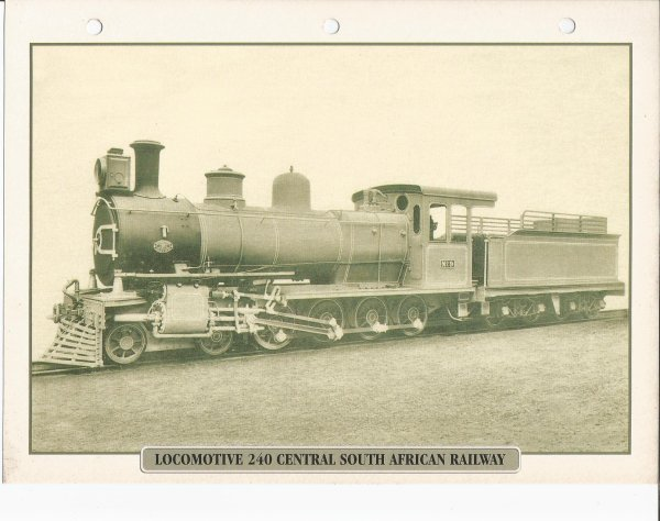 LOCOMOTIVE 240 CENTRAL SOUTH AFRICAN RAILWAY