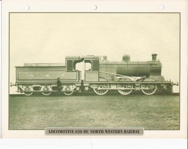 LOCOMOTIVE 030 DU NORTH WESTERN RAILAY