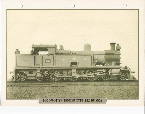 LOCOMOTIVE-TENDER TYPE 232 DE GOA