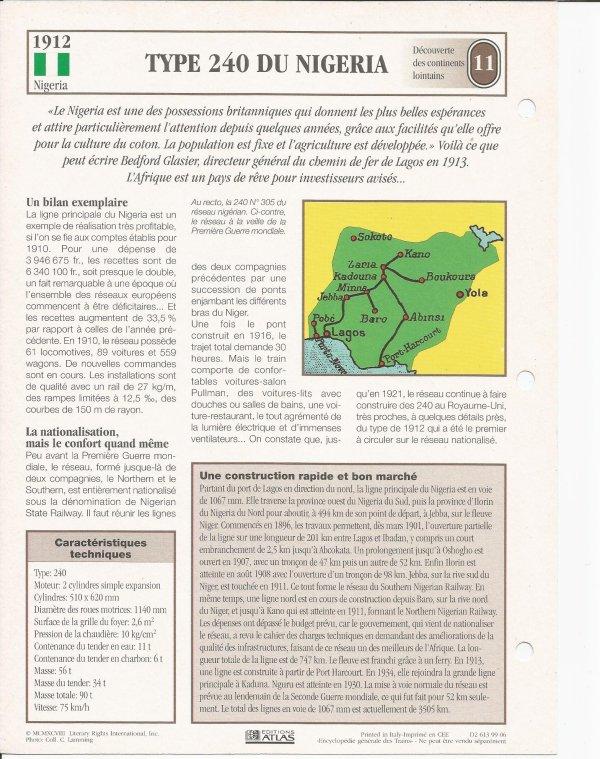 TYPE 240 DU NIGERIA