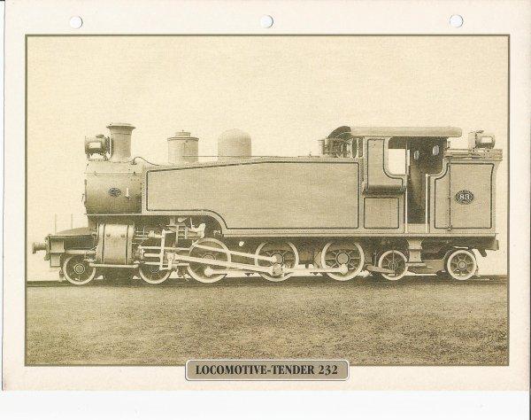 LOCOMOTIVE-TENDER 232