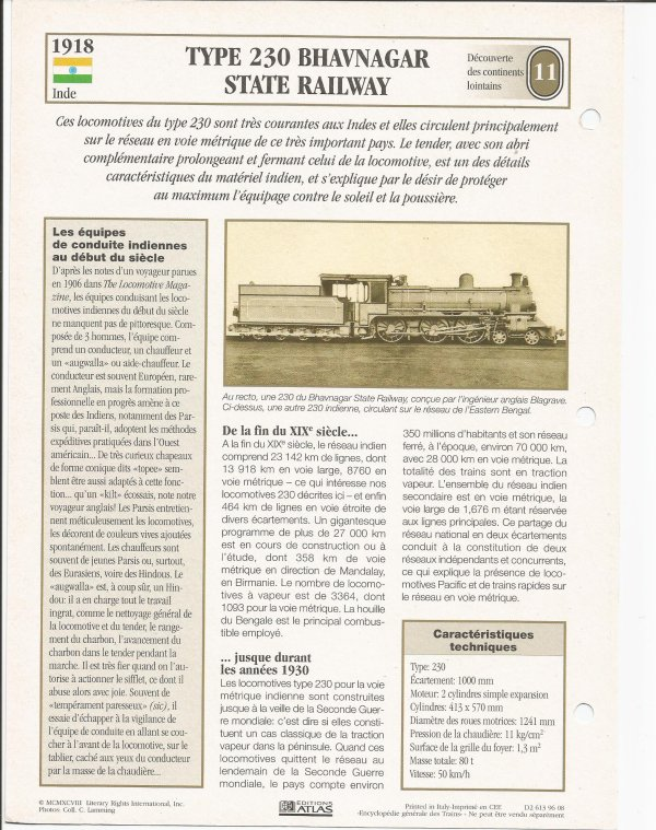 TYPE 230 BHAVNAGAR STATA RAILWAY