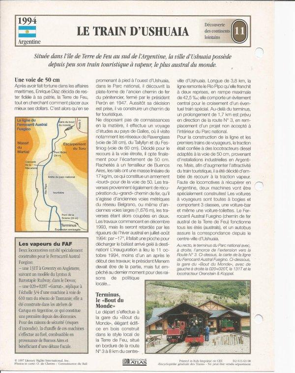 LE TRAIN D'USHUAIA