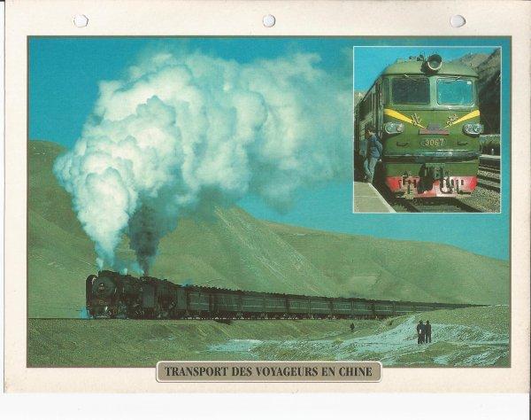 TRANSPORT DES VOYAGEURS EN CHINE