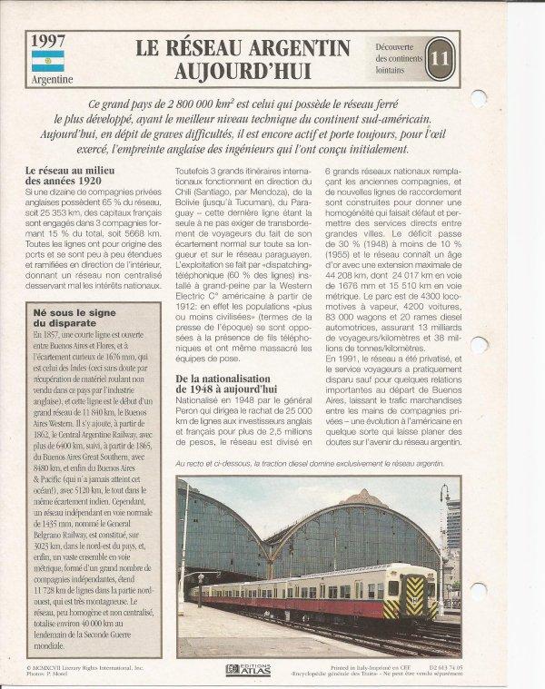 LE RÉSEAU ARGENTIN AUJOURD'HUI