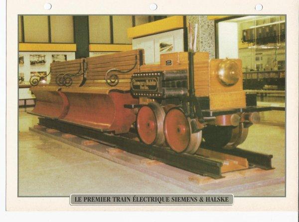 LE PREMIER TRAIN ELECTRIQUE SIEMENS & HALSKE