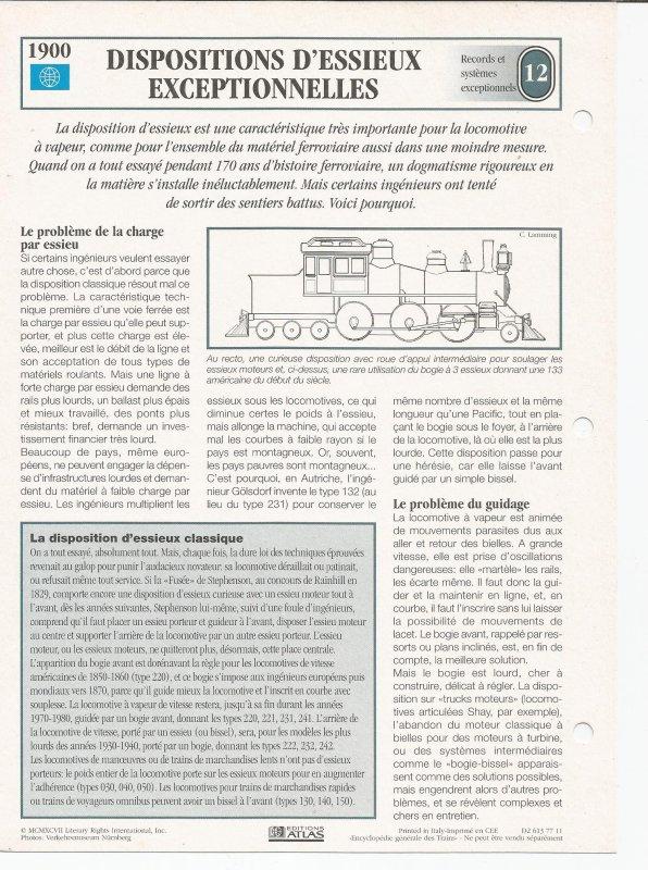 DISPOSITION D'ESSIEUX EXCEPTIONNELLES