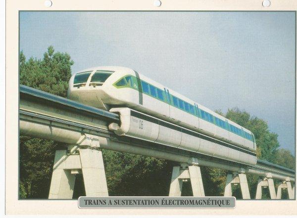 TRAINS A SUSTENTATION ÉLECTROMAGNÉTIQUE