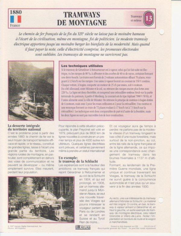 TRAMWAYS DE MONTAGNE