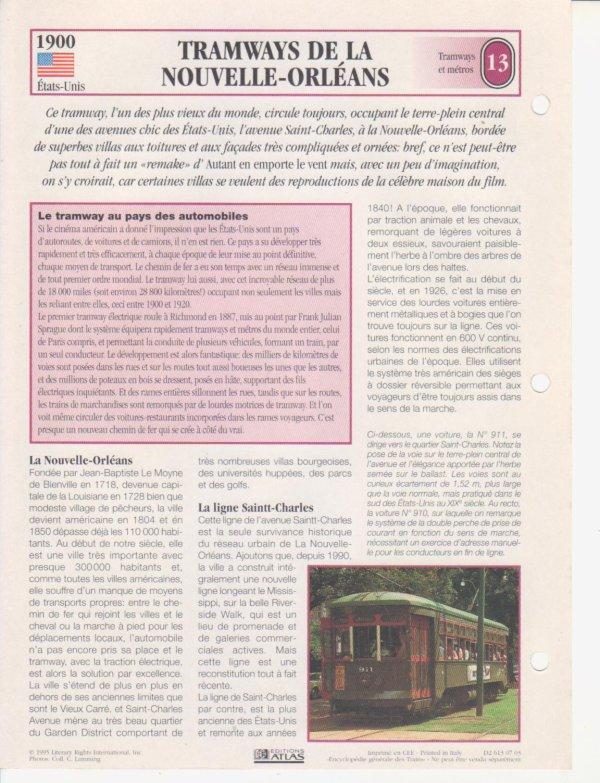 TRAMWAYS E LA NOUVELLE-ORLÉANS