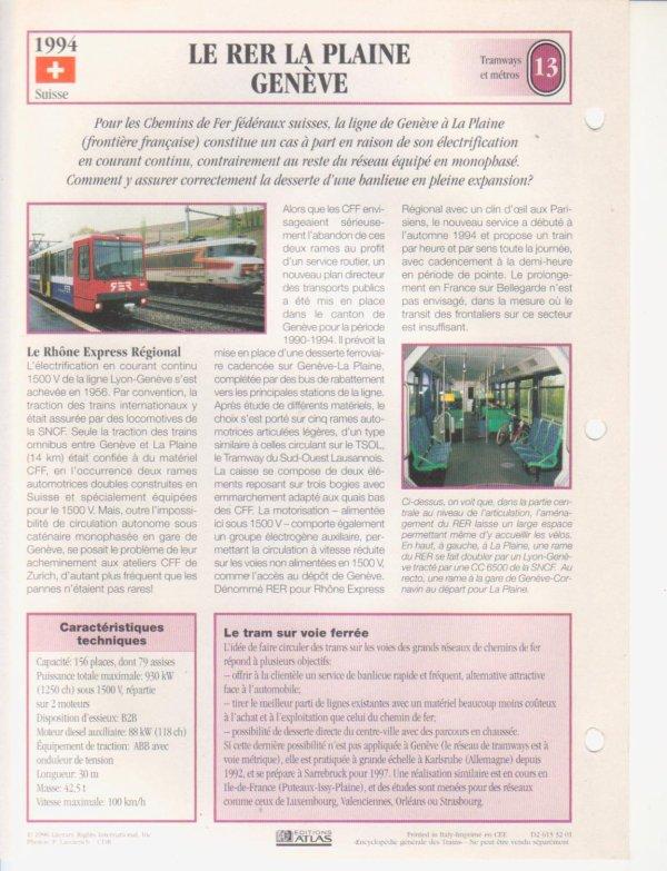LE RER LA PLAINE - GENÈVE