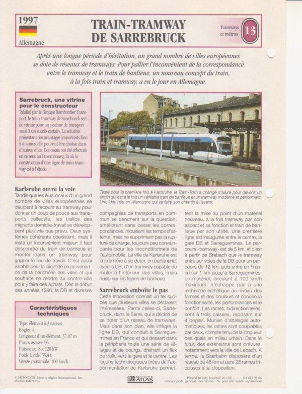 TRAIN-TRAMWAY DE SARREBRUCK