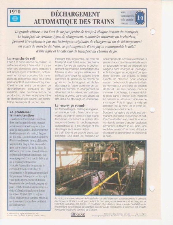 DÉCHARGEMENT AUTOMATIQUE DES TRAINS