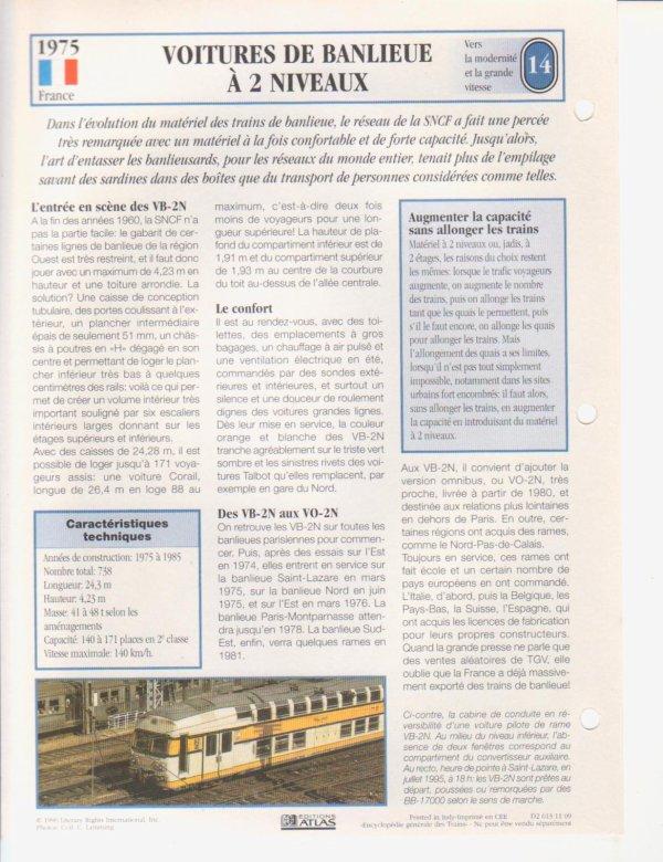 VOITURES DE BANLIEUE A DEUX NIVEAUX
