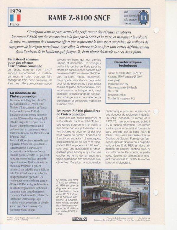 RAME Z-8100 SNCF