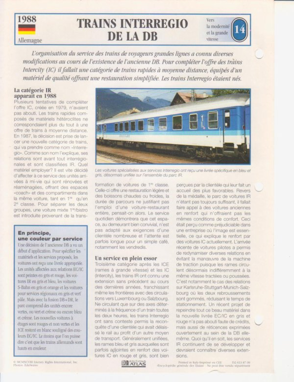 TRAINS INTERREGIO DE LA DB