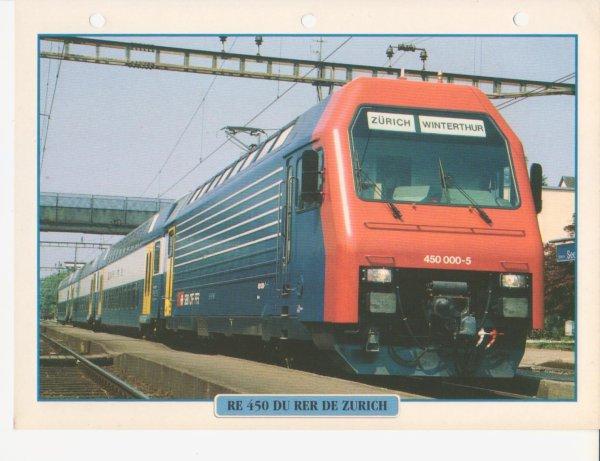 RE 450 DU RER DE ZURICH