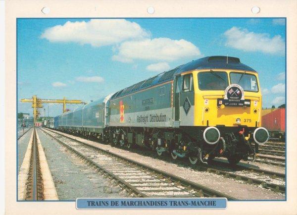 TRAINS DE MARCHANDISES TRANS-MANCHE