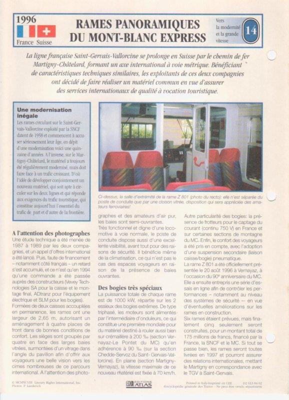 RAMES PANORAMIQUES DU MONT-BLANC EXPRESS