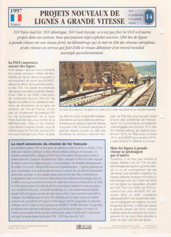 PROJETS NOUVEAUX DE LIGNES A GRANDE VITESSE