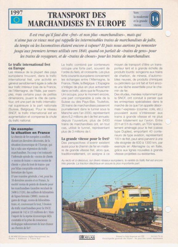 TRANSPORT DES MARCHANDISES EN EUROPE