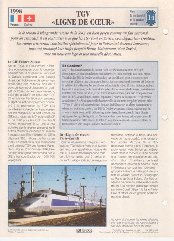 "TGV ""LIGNE DE C¼UR"""