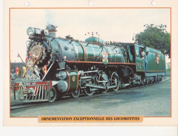 ORNEMENTATION EXCEPTIONNELLE DES LOCOMOTIVES