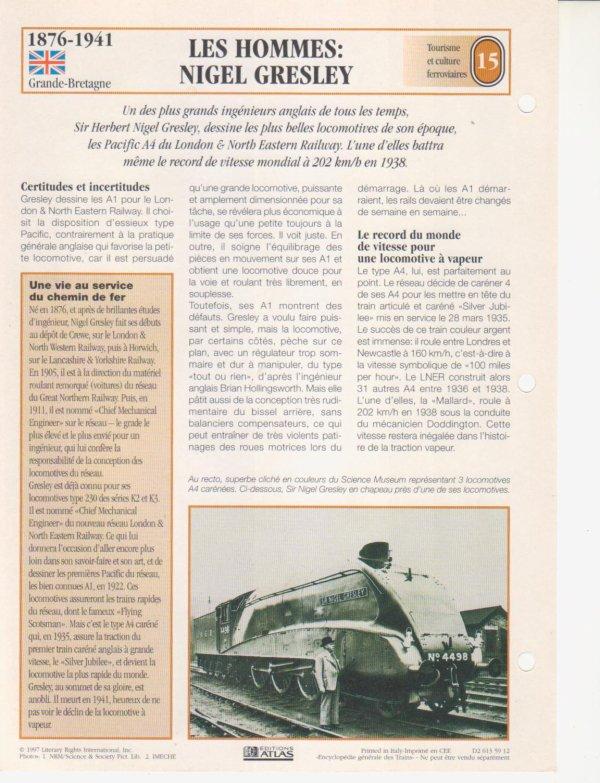 LES HOMMES: NIGEL GRESLEY