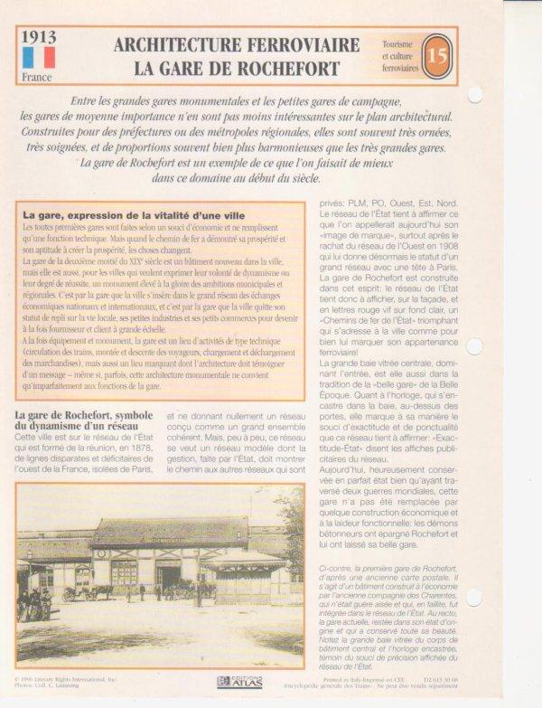 ARCHITECTURE FERROVIAIRE: GARE DE ROCHEFORT