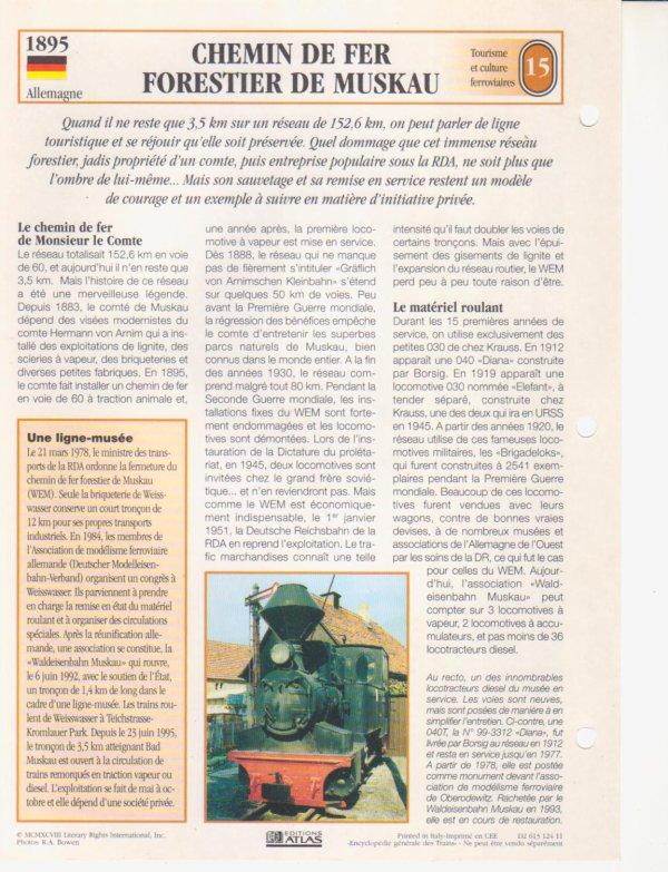 CHEMIN DE FER FORESTIER DE MUSKAU