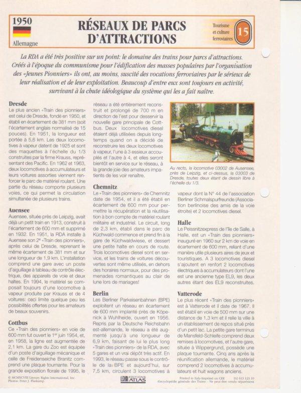 RÉSEAUX DE PARCS D'ATTRACTIONS