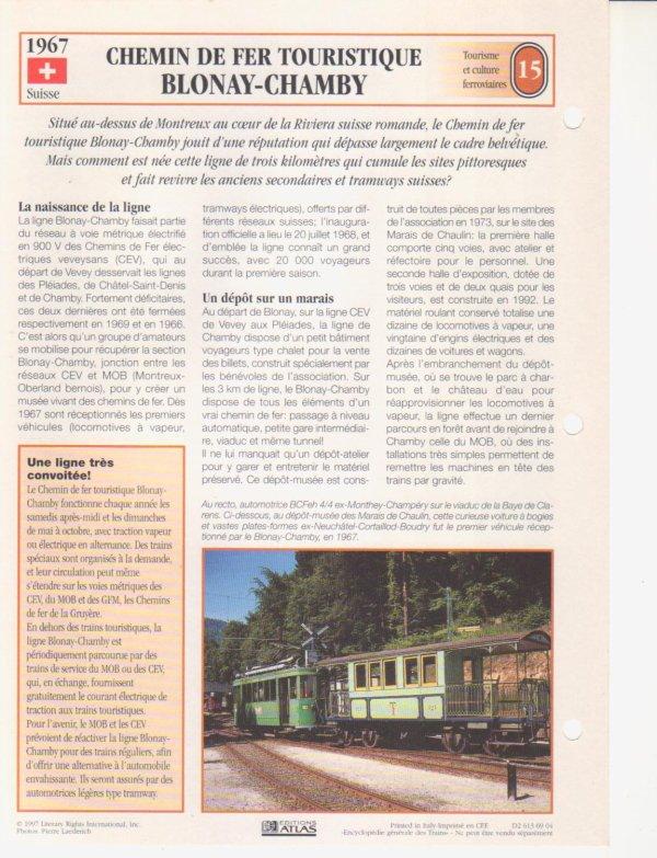 CHEMIN DE FER TOURISTIQUE BLONAY-CHAMBRY