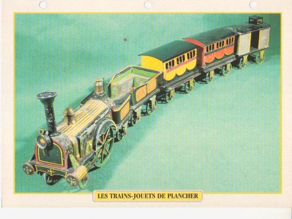LES TRAINS-JOUETS DE PLANCHER