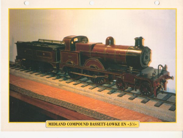 "MIDLAND COMPOUND BASSETT-LOWKE EN ""31/2"