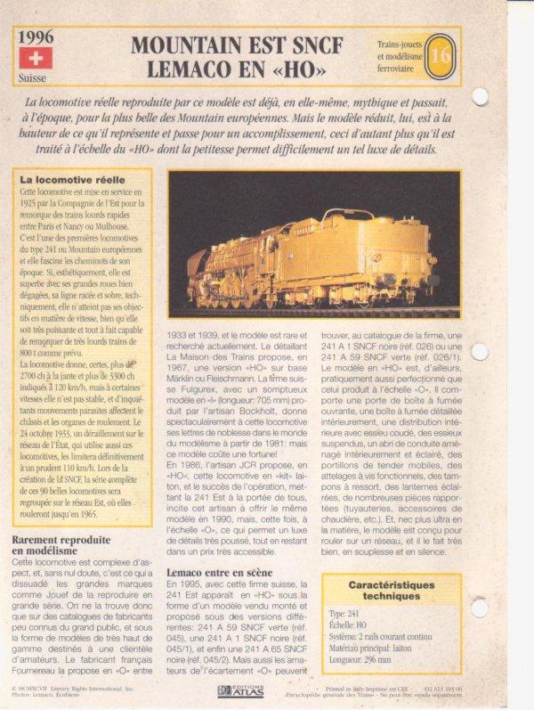 MOUNTAIN EST SNCF LEMACO EN HO