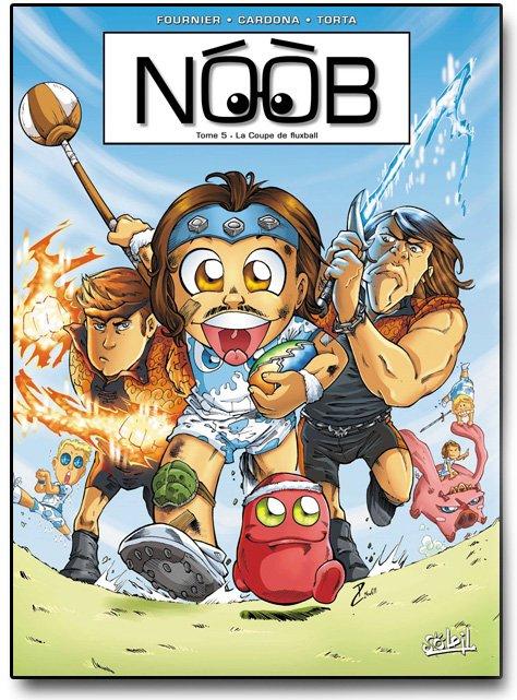 La couverture du tome 5 de la bd Noob !