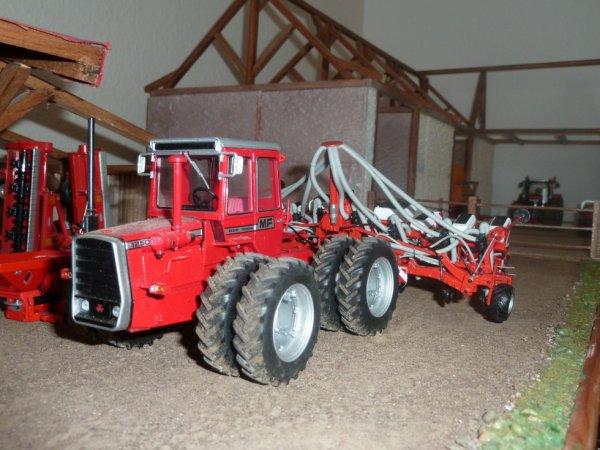 mf 1250 et semoir kuhn