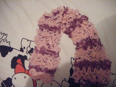 Echarpe Rose et violet